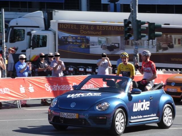 Cabrio Fahrt mit Geraint Thomas und Marcel Sieberg